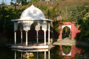 Pavillon with pond